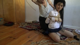 Kinbaku bondage - Me suffering in rope and shared an intense moment porno