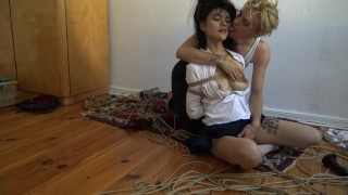 Kinbaku bondage - Me suffering in rope and shared an intense moment Cam spying