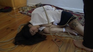 Kinbaku bondage - Me suffering in rope and shared an intense moment Gozando camgirl