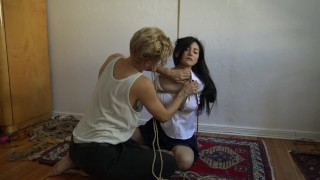 Kinbaku bondage - Me suffering in rope and shared an intense moment Face sucker