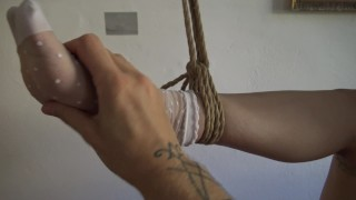 Kinbaku bondage - Me suffering in rope and shared an intense moment Girl solo