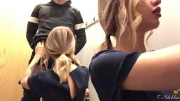 Teen sloppy blowjob, oral creampie, swallows cum - Freya Stein