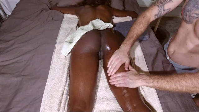Sea beach nude - Hot amateur student with bubble butt get massage until anal creampie