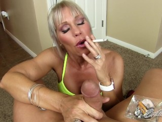 Erotic Nikki – Multitasking MILF Gives POV Rub And Tug While Smoking A Cig