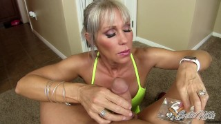 Erotic Nikki - Multitasking MILF Gives POV Rub And Tug While Smoking A Cig