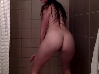 Spy On Me Stripping and Dancing In the Shower!