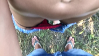 Outdoor pussyjob cum in my panties and then wears it 4K 69 cartoon