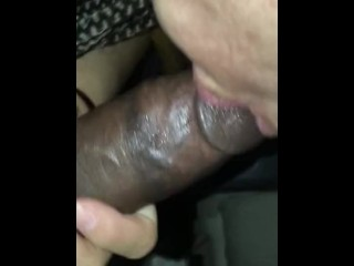 Latina Sucks Big Dick Cum Shot