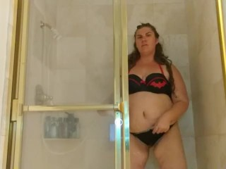 Chubby Girl Takes a Shower