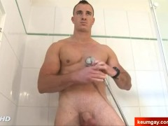 innocent handsome str8 firefighter serviced his cock by us.