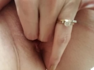 Closeup Finger Fucking My Pussy