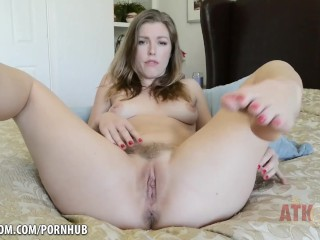 Ella Nova fingers herself madly
