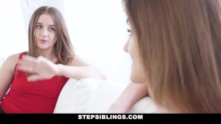 StepSiblings - Lets Both Ride This Cock