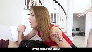 StepSiblings - Lets Both Ride This Cock Mf trimmed