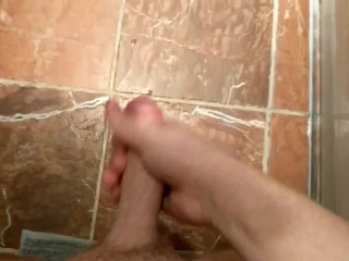 Cumming on my friends bathroom floor