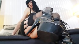 Big Tit MILF Domme High Heel Humiliation Fetish