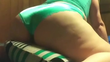 Pillow humping cum & boobies