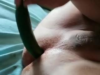 Anal, hardcore, big, Men anal, cocumber