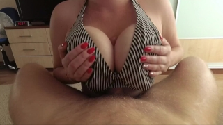 I love big tits fuck and cum on tits - POV Ass deep