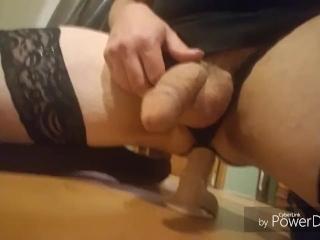 Sissy Chloe solo anal toy