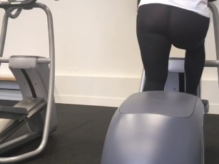 Big Ass in Tight See-Through Pants! Spying at the Gym