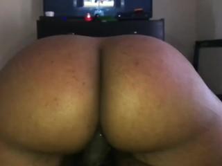 Huge ebony booty in slow motion