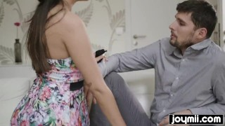 horny babysitter Alyssia Kent makes daddy cum Heels big