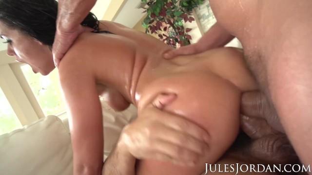 Ria Sunn & Monique Woods anal foursome with double penetration SZ1473