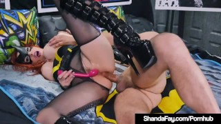 Pissing latex Blowjob Nippon in cosplay 3