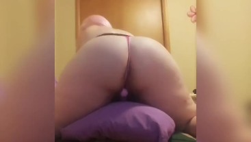Pillow humping with my toy until I cum