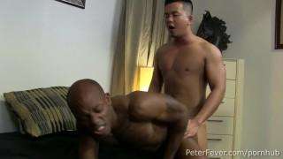 Asian Muscleboy Alex Chu Fucks Osiris Blade as Black Panther