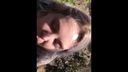 POV of BBW sucking daddy's dick on the PNW cliffs