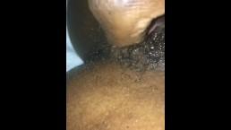 Creamy Cum on her Fingers