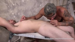 GM-Hunky Str8t Trailer Trash First Time Kiss Suck FUCKED & Facial!