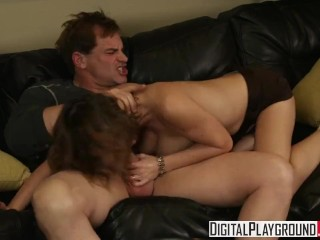 Digital Playground Sara Stone gets fucked hard on the couch