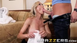 Brazzers - Blonde milf Brandi Love, trains her stepson well