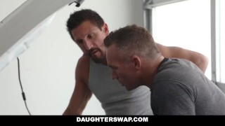 DaughterSwap - Fucking Each Others Step Dads is Fun Orgy cum