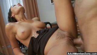 Nataly Gets Splooged Right On Her Slut Face