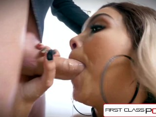 FirstClassPOV – Aaliyah Hadid take a monster cock in her throat, big boobs