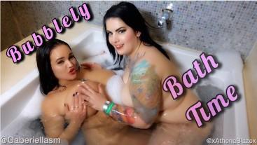Big juicy BBW Boobs bath time in Vegas tattooed Gabby Monroe Athena Blaze