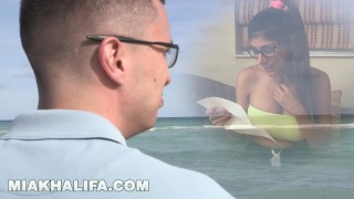 MIA KHALIFA - Nerdy Fan Loses His Virginity To His Favorite Pornstar  full figure big tits babe licking glasses miakhalifa lebanese cock sucking interracial brunette cowgirl arab pussy licking bald pussy hand job