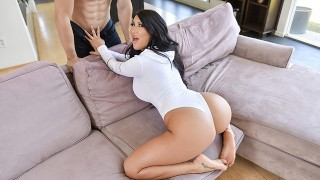 TeenCurves - Thick Brunette Cock Rides and Gets Titty Fucked