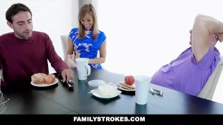 FamilyStrokes - Pranking Stepmom Gets Fucked By Stepson Voyeur female