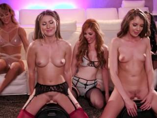PornHub Games Featurettes – S01E02: Cherie, Lily, Elena, Paige rides Sybian