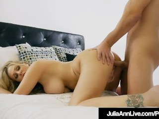 Girl toying pussy step mom milf julia ann cummed on face by step son!, julia ann vna girls vna live