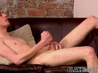 Picture of Fit young Jeremy Chris has cum stroking uncut cock solo