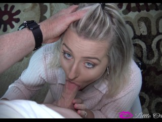 ON HER KNEES - Its DICK SUCK'N Time!!