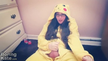 Fapping in My Pikachu Kigurumi
