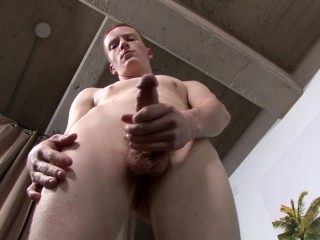 Picture of Straight Barely Legal Solo Twink Military Boy Masturbating