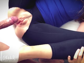 fuck her hard ripped yoga pants and ankle socks full length lenalouix